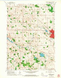 Hartford West Wisconsin Historical topographic map, 1:24000 scale, 7.5 X 7.5 Minute, Year 1959