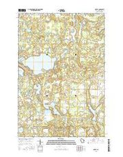 Hertel Wisconsin Current topographic map, 1:24000 scale, 7.5 X 7.5 Minute, Year 2015 from Wisconsin Maps Store