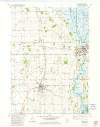 Horicon Wisconsin Historical topographic map, 1:24000 scale, 7.5 X 7.5 Minute, Year 1980