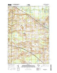 Hortonville Wisconsin Current topographic map, 1:24000 scale, 7.5 X 7.5 Minute, Year 2016