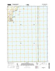 Indian Point Wisconsin Current topographic map, 1:24000 scale, 7.5 X 7.5 Minute, Year 2016