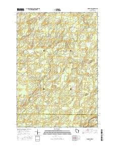 Ingram NW Wisconsin Current topographic map, 1:24000 scale, 7.5 X 7.5 Minute, Year 2015