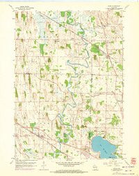 Ixonia Wisconsin Historical topographic map, 1:24000 scale, 7.5 X 7.5 Minute, Year 1959