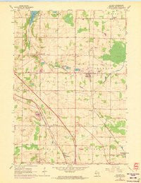 Jackson Wisconsin Historical topographic map, 1:24000 scale, 7.5 X 7.5 Minute, Year 1959