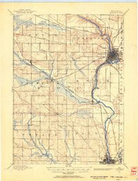Janesville Wisconsin Historical topographic map, 1:62500 scale, 15 X 15 Minute, Year 1891