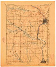 Janesville Wisconsin Historical topographic map, 1:62500 scale, 15 X 15 Minute, Year 1893
