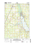 Kelly Wisconsin Current topographic map, 1:24000 scale, 7.5 X 7.5 Minute, Year 2016 from Wisconsin Map Store