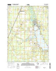 Kelly Wisconsin Current topographic map, 1:24000 scale, 7.5 X 7.5 Minute, Year 2016 from Wisconsin Maps Store