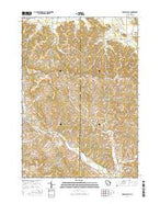 Kendall East Wisconsin Current topographic map, 1:24000 scale, 7.5 X 7.5 Minute, Year 2016 from Wisconsin Map Store