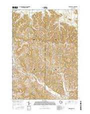Kendall East Wisconsin Current topographic map, 1:24000 scale, 7.5 X 7.5 Minute, Year 2016 from Wisconsin Maps Store