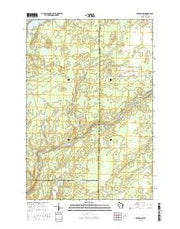 Kennan NW Wisconsin Current topographic map, 1:24000 scale, 7.5 X 7.5 Minute, Year 2015 from Wisconsin Maps Store
