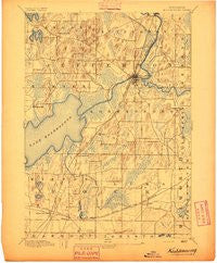 Koshkonong Wisconsin Historical topographic map, 1:62500 scale, 15 X 15 Minute, Year 1894