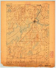 Koshkonong Wisconsin Historical topographic map, 1:62500 scale, 15 X 15 Minute, Year 1891