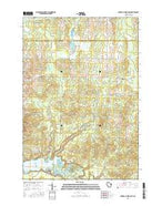 Lake Eau Claire East Wisconsin Current topographic map, 1:24000 scale, 7.5 X 7.5 Minute, Year 2015 from Wisconsin Map Store