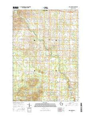 Lake Manakiki Wisconsin Current topographic map, 1:24000 scale, 7.5 X 7.5 Minute, Year 2015 from Wisconsin Maps Store