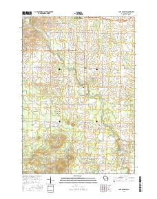 Lake Manakiki Wisconsin Current topographic map, 1:24000 scale, 7.5 X 7.5 Minute, Year 2015