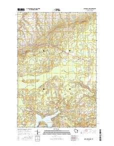 Lake Nebagamon Wisconsin Current topographic map, 1:24000 scale, 7.5 X 7.5 Minute, Year 2015