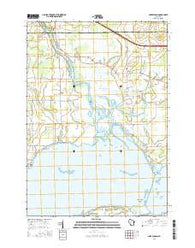 Lake Poygan Wisconsin Current topographic map, 1:24000 scale, 7.5 X 7.5 Minute, Year 2016