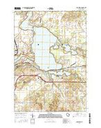 Lake Wissota Wisconsin Current topographic map, 1:24000 scale, 7.5 X 7.5 Minute, Year 2015 from Wisconsin Map Store