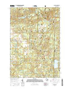 Langlade Wisconsin Current topographic map, 1:24000 scale, 7.5 X 7.5 Minute, Year 2015