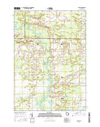 Leeman Wisconsin Current topographic map, 1:24000 scale, 7.5 X 7.5 Minute, Year 2016