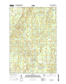 Lehman Lake Wisconsin Current topographic map, 1:24000 scale, 7.5 X 7.5 Minute, Year 2015
