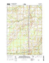 Lena Wisconsin Current topographic map, 1:24000 scale, 7.5 X 7.5 Minute, Year 2016
