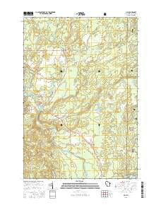 Lily Wisconsin Current topographic map, 1:24000 scale, 7.5 X 7.5 Minute, Year 2015