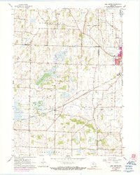 Lima Center Wisconsin Historical topographic map, 1:24000 scale, 7.5 X 7.5 Minute, Year 1960