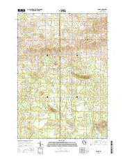 Lindsey Wisconsin Current topographic map, 1:24000 scale, 7.5 X 7.5 Minute, Year 2015 from Wisconsin Maps Store