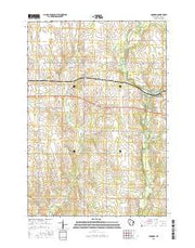 Lombard Wisconsin Current topographic map, 1:24000 scale, 7.5 X 7.5 Minute, Year 2015 from Wisconsin Maps Store