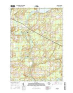 Loomis Wisconsin Current topographic map, 1:24000 scale, 7.5 X 7.5 Minute, Year 2016 from Wisconsin Map Store