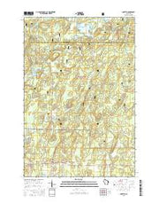 Loretta Wisconsin Current topographic map, 1:24000 scale, 7.5 X 7.5 Minute, Year 2015 from Wisconsin Maps Store