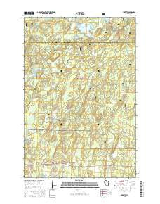 Loretta Wisconsin Current topographic map, 1:24000 scale, 7.5 X 7.5 Minute, Year 2015