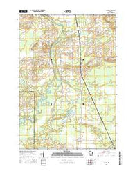 Lunds Wisconsin Current topographic map, 1:24000 scale, 7.5 X 7.5 Minute, Year 2016