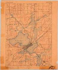 Madison Wisconsin Historical topographic map, 1:62500 scale, 15 X 15 Minute, Year 1890