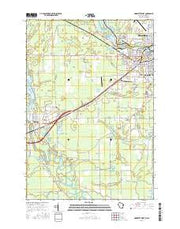 Marinette West Wisconsin Current topographic map, 1:24000 scale, 7.5 X 7.5 Minute, Year 2016 from Wisconsin Maps Store