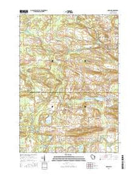 Marion Wisconsin Current topographic map, 1:24000 scale, 7.5 X 7.5 Minute, Year 2016