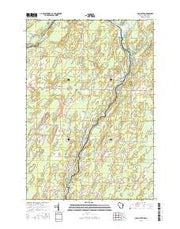 McAllister Wisconsin Current topographic map, 1:24000 scale, 7.5 X 7.5 Minute, Year 2016 from Wisconsin Maps Store