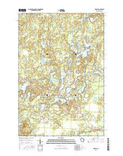 Mercer Wisconsin Current topographic map, 1:24000 scale, 7.5 X 7.5 Minute, Year 2015 from Wisconsin Maps Store