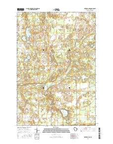 Metzger Lake Wisconsin Current topographic map, 1:24000 scale, 7.5 X 7.5 Minute, Year 2015