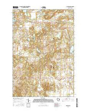 Milltown Wisconsin Current topographic map, 1:24000 scale, 7.5 X 7.5 Minute, Year 2015 from Wisconsin Maps Store