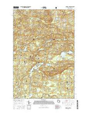 Mineral Lake Wisconsin Current topographic map, 1:24000 scale, 7.5 X 7.5 Minute, Year 2015 from Wisconsin Maps Store