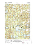 Moen Lake Wisconsin Current topographic map, 1:24000 scale, 7.5 X 7.5 Minute, Year 2015 from Wisconsin Map Store