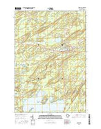 Monico Wisconsin Current topographic map, 1:24000 scale, 7.5 X 7.5 Minute, Year 2015 from Wisconsin Map Store