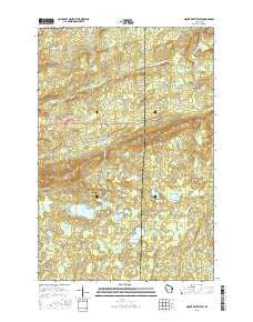 Mount Whittlesey Wisconsin Current topographic map, 1:24000 scale, 7.5 X 7.5 Minute, Year 2015