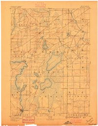 Muskego Wisconsin Historical topographic map, 1:62500 scale, 15 X 15 Minute, Year 1891