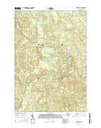 Natzke Camp Wisconsin Current topographic map, 1:24000 scale, 7.5 X 7.5 Minute, Year 2015 from Wisconsin Map Store