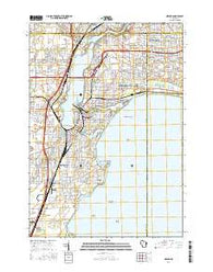 Neenah Wisconsin Current topographic map, 1:24000 scale, 7.5 X 7.5 Minute, Year 2016
