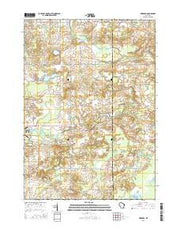 Newburg Wisconsin Current topographic map, 1:24000 scale, 7.5 X 7.5 Minute, Year 2015 from Wisconsin Maps Store